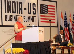 The Prime Minister, Narendra Modi addressing the India-US Business Summit, in New Delhi on January 26, 2015.