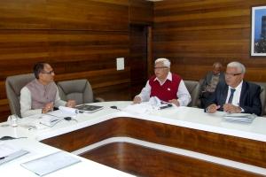 Madhya Pradesh Chief Minister Shivraj Singh Chouhan met investors in Bhopal on Monday, January 5, 2014