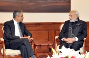 CEO of Deutsche Bank AG, Anshu Jain calling on Prime Minister Narendra Modi