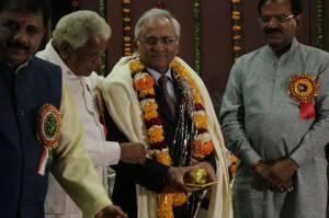 LtoR Bhopal Mayor Alok Sharma, Madhya Pradesh Home Minister Babulal Gaur, Editor-in-chief Newsroom24x7 Lalit Shastri and Bhopal MP Alok Sanjar