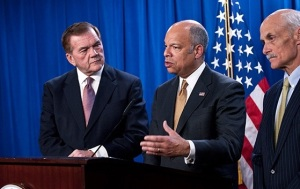 On February 25, Secretary Jeh Johnson, joined by former Homeland Secretaries Ridge and Chertoff, spoke on the need for Congress to pass a full-year appropriations bill for DHS.