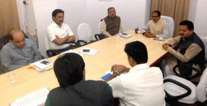 Chief Minister of Madhya Pradesh Shivraj Singh Chouhan reviewed crop damage due to  hail storm on March 16, 2015