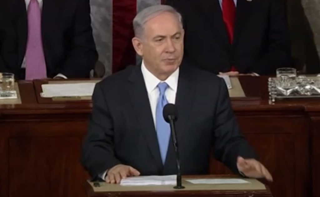 Israeli Prime Minister Binyamin Netanyahu  told US Congress that negotiations would 'guarantee' that Tehran will get nuclear weapons.