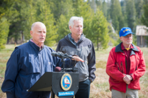 California Governor Brown delivers remarks. Photo Credit: California Department of Water Resources.