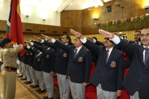 Investiture Ceremony of the 18th Batch of Sub-Inspector Cadets of CBI at Ghaziabad, Uttar Pradesh on May 1, 2015