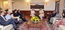 Federal Defence Minister of Germany, Dr. (Mrs.) Ursula von der Leyen called on Prime Minister Narendra Modi, in New Delhi on 27 May  2015.