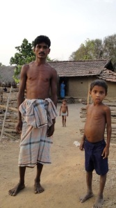 A tribal family in a Dantewada village