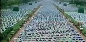 yoga at Rajpath