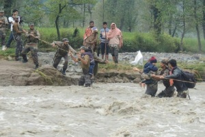 Indian Army and flood relief in Kashmir