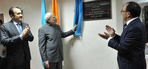 Minister Narendra Modi  inaugurates India - Kazakhstan Centre for Excellence in Information and Communication Technology at L. N. Gumilev Eurasia National University