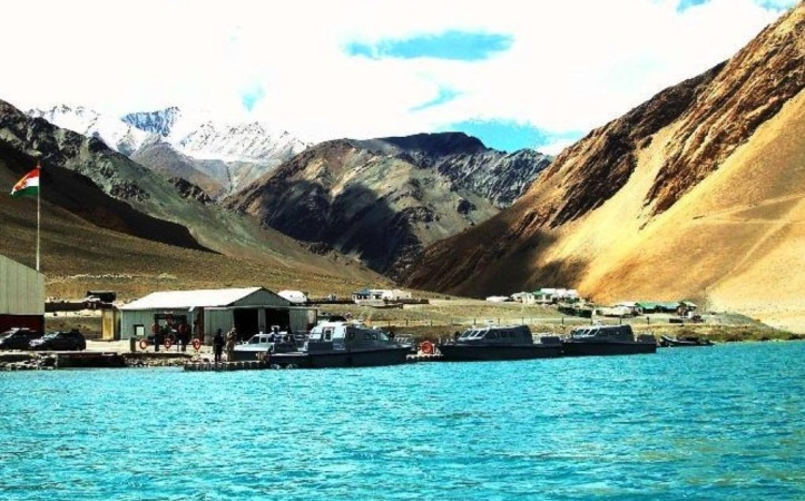 Tampa Class -TEMPEST 35-SPC high-speed Armed Interceptor and Assault Boats of the Indian Army in high altitude preparedness against any Chinese incursions at the Pangong-Tso Lake India, China Border... Photo Credit: Bobbie Jamwal