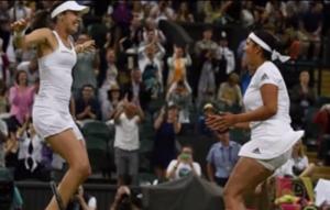 Sania Mirza-Martina Hingis Win Women's Doubles: The victory moment!