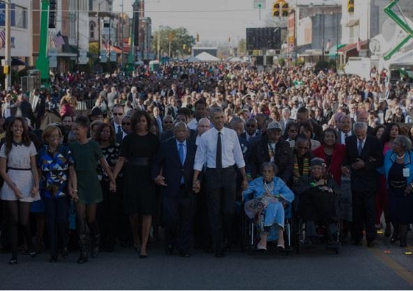 Obama-celeberating voting rights