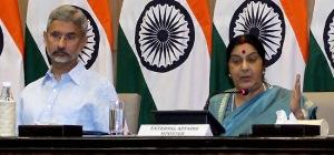 sushma swaraj press conference