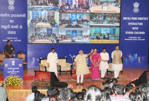Narendra Modi interacts with students