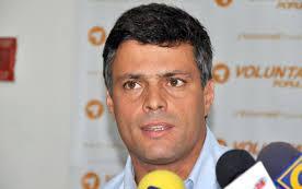 enezuela opposition leader Leopoldo Lopez
