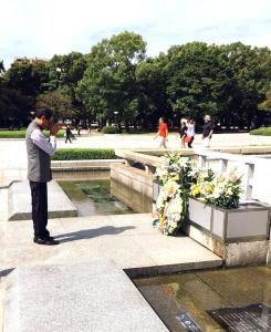 Madhya Pradesh Chief Minister Shivraj Singh Chouhan at Hiroshima Peace Memorial in Japan.