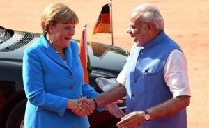 merkel visits india