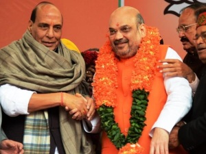 Amit shah re-elected President