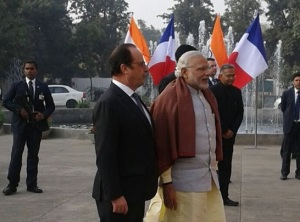 Hollande-Modi in India