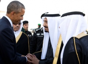 Saudi King Salman with President Obama