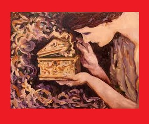 "Pandora's box is an artifact in Greek mythology, taken from the myth of Pandora's creation in Hesiod's Works and Days. The ""box"" was actually a large jar given to Pandora which contained all the evils of the world."