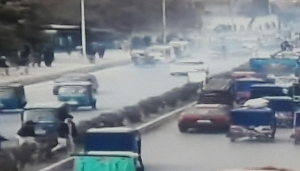 Explosion site in Islamabad, Afghanistan