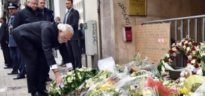 Prime Minister Narendra Modi lays wreath at Maelbeek Metro Station in Brussels during his visit to Belgium
