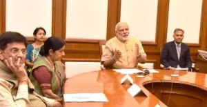 Prime Minister Narendra Modi dedicates the second cross border transmission interconnection system between India and Bangladesh, through video conferencing, in New Delhi on March 23, 2016.
