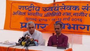 Prof Aniruddh Deshpande, RSS Akhil Bharatiya Sampark Pramukh addressed a press conference on RSS ABPS -Day-2 March 12-2106