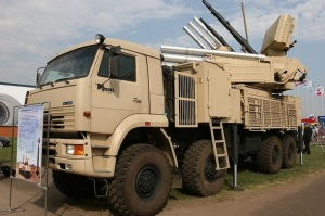 Kamaz mounted with air defence system