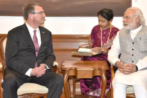 US Defence Secretary Ashton B. Carter called on Prime Minister Narendra Modi, in New Delhi on April 12, 2016.