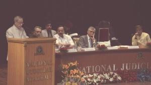 President Pranab Mukherjee addressing Judges Retreat in Bhopal
