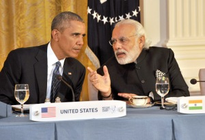 India's Prime Minister, Narendra Modi at the dinner hosted by the President of United States of America (USA), Barack Obama, at the White House, in Washington D.C. on March 31, 2016.