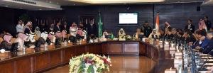 The Prime Minister Narendra Modi meeting the prominent Saudi business leaders at Saudi Chambers of Commerce, in Riyadh, Saudi Arabia on April 03, 2016.
