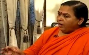 Union Minister of Water Resources Uma Bharti
