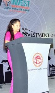 Madhya Pradesh Industry Minister Yashodhara Raje Scindia