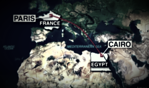 EgyptAir flight route