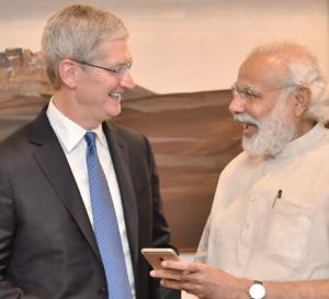 Apple CEO Tim Cook met PM Modi in Delhi