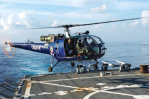 Indian Navy Helicopter lands on USS John S Mccain (representative photo)
