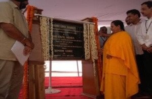 Ms. Uma Bharti inaugurating Yamuna Action Plan-III schemes in New Delhi