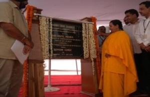 Ms. Uma Bharti inaugurating Yamuna Action Plan-III schemes in New Delhi