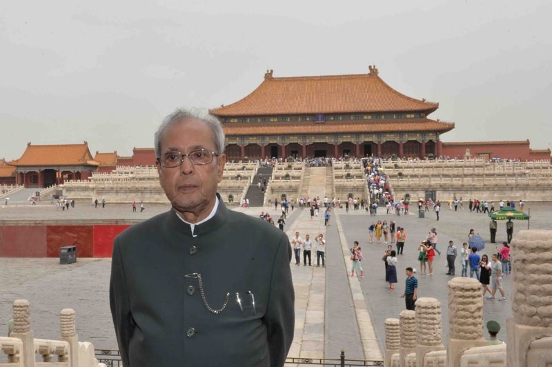 President of India visiting the Forbidden City in in Beijing on May 27, 2016