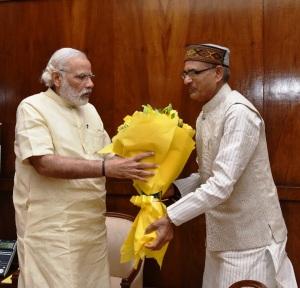 Madhya Pradesh Chief Minister Shivraj Singh Chouhan calls on PM Modi