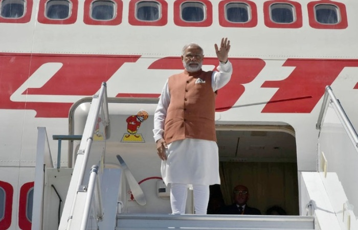 Indian PM Narendra Modi leaves for Washington DC concluding his Geneva visit on June 6