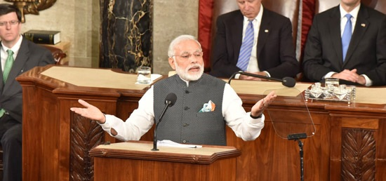 Prime Minister Narendra Modi addresses the Joint Meeting of U.S. Congress during his visit to USA