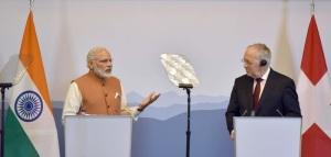 Prime Minister Narendra Modi and President of the Swiss Confederation  Johann Schneider-Ammann