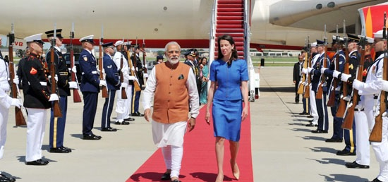 Prime Minister Narendra Modi arrives in Washington DC