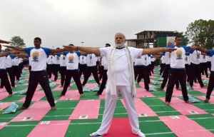 Prime Minister Narendra Modi performed yoga at the Capitol Complex at Chandigarh on 21 June