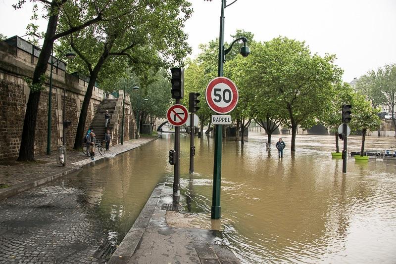 The Seine flood